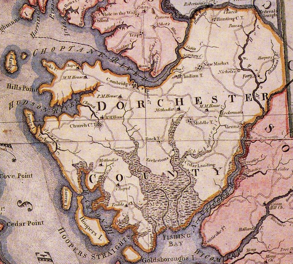 Historical Maps Dorchester Graves Maryland Map By